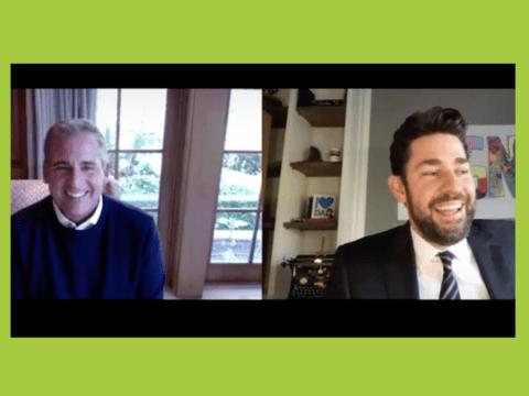 THE OFFICE Stars Steve Carrell + John Krasinski Celebrate Show's 15-Year Anniversary